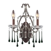 ELK lighting Opulence 2 Light Wall Sconce In Rust And Lime Crystal