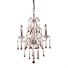 Opulence 3 Light Chandelier In Rust And Amber Crystal