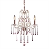 ELK lighting Opulence 3 Light Chandelier In Rust And Rose Crystal