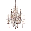 Opulence 9 Light Chandelier In Rust And Amber Crystal