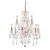 ELK lighting Opulence 9 Light Chandelier In Rust And Clear Crystal