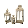Pomeroy Hathaway Set of 3 Nesting Lanterns, Antique Parchment