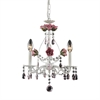 ELK lighting Rosavita 3 Light Chandelier In Antique White And Pink