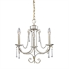 Tambridge 3 Light Chandelier In Antique Silver