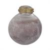 Metal Neck Globe Vase