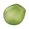 Vivace Cut Glass Horn Vase In Lime