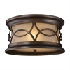 Burlington Gate 2 Light Outdoor Flushmount In Hazelnut Bronze