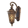 Burlington Junction 1 Light Outdoor Sconce In Hazlenut Bronze And  Amber Scavo Glass