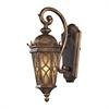 ELK lighting Burlington Junction 1 Light Outdoor Sconce In Hazlenut Bronze And  Amber Scavo Glass