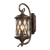 ELK lighting Barrington Gate 2 Light Outdoor Sconce In Hazlenut Bronze And Designer Water Glass