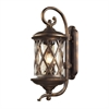 ELK lighting Barrington Gate 3 Light Outdoor Sconce In Hazlenut Bronze And Designer Water Glass