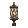 ELK lighting Barrington Gate 2 Light Outdoor Post Lamp In Hazlenut Bronze And Designer Water Glass