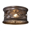 ELK lighting Barrington Gate 2 Light Outdoor Flush Mount In Hazelnut Bronze