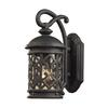 ELK lighting Tuscany Coast 1 Light Outdoor Sconce In Weathered Charcoal