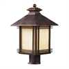 ELK lighting Blackwell 1 Light Outdoor Post Lamp In Hazelnut Bronze