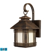 ELK lighting Blackwell 1 Light Outdoor LED Sconce In Hazelnut Bronze