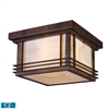 ELK lighting Blackwell 2 Light Outdoor LED Flushmount In Hazelnut Bronze