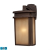 Sedona 1 Light Outdoor LED Wall Sconce In Clay Bronze