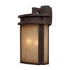 Sedona 2 Light Outdoor Wall Sconce In Clay Bronze
