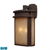Sedona 2 Light Outdoor LED Wall Sconce In Clay Bronze