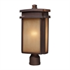 Sedona 1 Light Outdoor Pier Mount In Clay Bronze