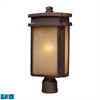 Sedona 1 Light Outdoor LED Pier Mount In Clay Bronze