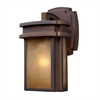 ELK lighting Sedona 1 Light Outdoor Wall Sconce In Clay Bronze