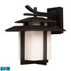 ELK lighting Kanso 1 Light Outdoor LED Sconce In Hazelnut Bronze