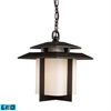 ELK lighting Kanso 1 Light Outdoor LED Pendant In Hazelnut Bronze