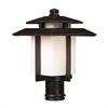 Kanso 1 Light Outdoor Pier Mount In Hazlenut Bronze