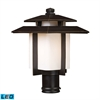 Kanso 1 Light Outdoor LED Pier Mount In Hazlenut Bronze