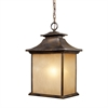 ELK lighting San Gabriel 1 Light Outdoor Pendant In Hazelnut Bronze