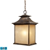ELK lighting San Gabriel 1 Light Outdoor LED Pendant In Hazelnut Bronze