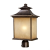 ELK lighting San Gabriel 1 Light Outdoor Post Lamp In Hazelnut Bronze