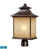 ELK lighting San Gabriel 1 Light Outdoor LED Post Lamp In Hazelnut Bronze