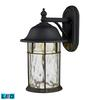ELK lighting Lapuente 1 Light Outdoor LED Wall Sconce In Matte Black