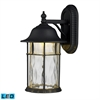 Lapuente 1 Light Outdoor LED Wall Sconce In Matte Black
