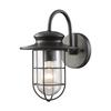 Portside 1 Light Outdoor Wall Sconce In Matte Black