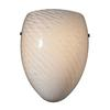 Arco Baleno 1 Light Wall Sconce In White Swirl Glass