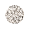 Pomeroy Charm 4-Inch Ball, Silver,Clear