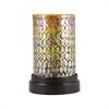 Pomeroy Capelo Pillar Holder, Rustic,Amber Shimmer Mosaic
