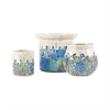 Pomeroy Cool Waters Set of 3 Lighting, Cool Waters Mosaic