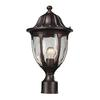 Glendale 1 Light Outdoor Post Mount In Regal Bronze And Water Glass