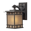 ELK lighting Newlton 1 Light Outdoor Sconce In Weathered Charcoal