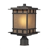 ELK lighting Newlton 1 Light Outdoor Post Lamp In Weathered Charcoal