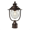 ELK lighting Searsport 1 Light Outdoor Post Lamp In Regal Bronze And Water Glass