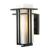 ELK lighting Croftwell 1 Light Outdoor Sconce In Textured Matte Black