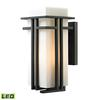 ELK lighting Croftwell 1 Light Outdoor LED Sconce In Textured Matte Black