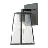 ELK lighting Meditterano Collection 1 light outdoor sconce in Textured Matte Black