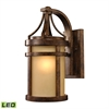 ELK lighting Winona 1 Light Outdoor LED Sconce In Hazelnut Bronze